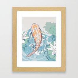 Koi Passing Through Framed Art Print