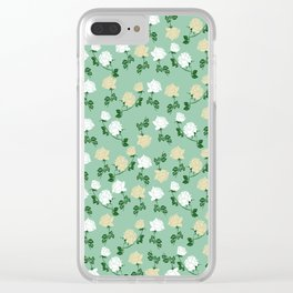 Roses pattern Clear iPhone Case