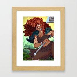 Red Head Warrior Framed Art Print