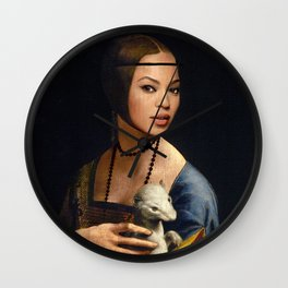 Bey Plays with the Family Ferret Wall Clock