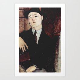Paul Guillaume by Amedeo Modigliani Art Print