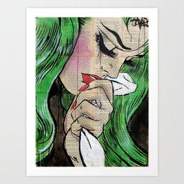 pop cry Art Print