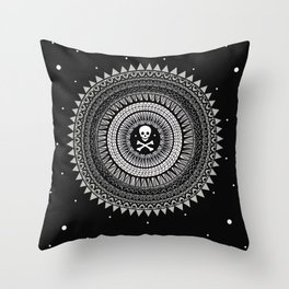 Space Skull & Bones Throw Pillow