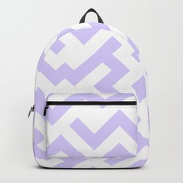White and Pale Lavender Violet Labyrinth Backpack