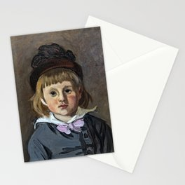 Portrait of his son Jean Monet in a pompom bonnet Stationery Cards