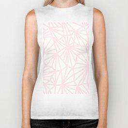 Handmade minimal geometric pattern - pastel pink #decor Biker Tank