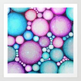OBLIVIOUS SPHERES IN SPACE Art Print