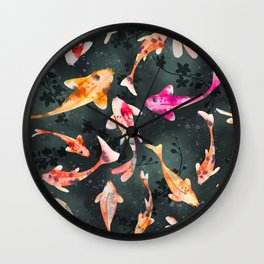 The Koi Pond Wall Clock