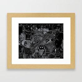 Natural Trudge Reversed Framed Art Print