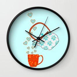 Tea Time Love Wall Clock