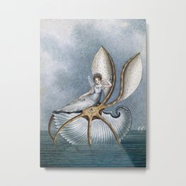 """""""Fairy Resting On A Shell"""" by Amelia Jane Murray Metal Print"""