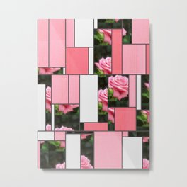 Pink Roses in Anzures 3 Art Rectangles 9 Metal Print