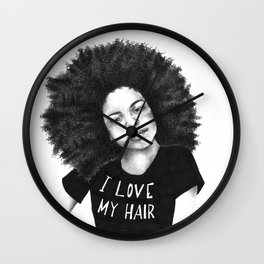 I love my hair Wall Clock