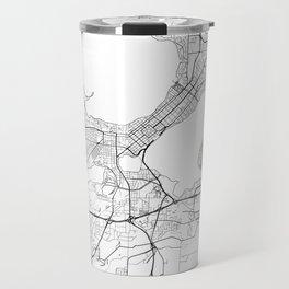Madison Map White Travel Mug