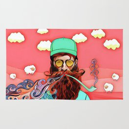 Man and pipe Rug