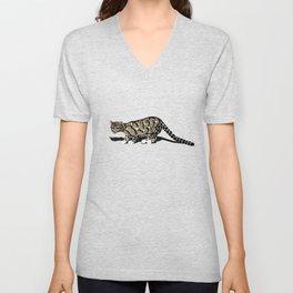 Clouded leopard Unisex V-Neck