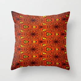 Concave Stature Pattern 6 Throw Pillow