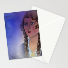 fear in her eyes Stationery Cards