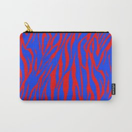 Zebra Print Red and Blue Carry-All Pouch