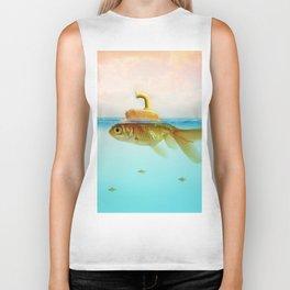 Submarine Goldfish Biker Tank