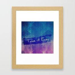 Take  it Easy Typography Framed Art Print