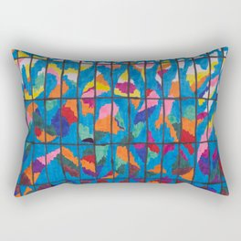 Sunset in a Grid Rectangular Pillow