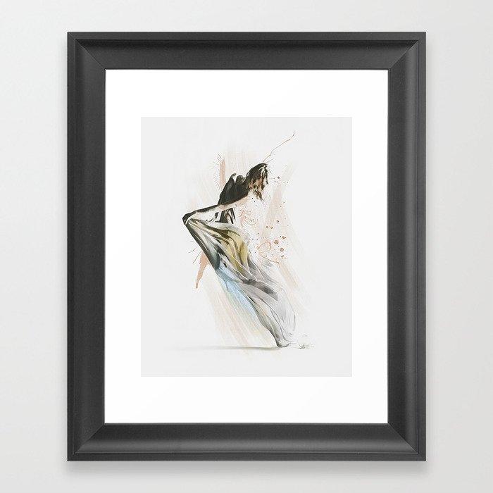 Drift Contemporary Dance Framed Art Print