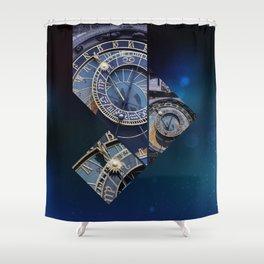 Prague Astronomical Clock Shower Curtain