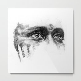 Warpaint Eyes Metal Print