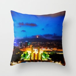 Barcelona. Montjuik Throw Pillow