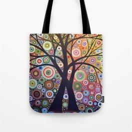 Abstract Art Landscape Original Painting ... Magic Garden Tote Bag