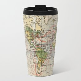 Vintage World Sailing Routes Map (1914) Travel Mug