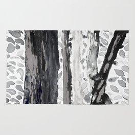 Rainbow Eucalyptus Graffiti artist tree from shedding bark South Pacific Black and White Night Rug