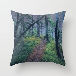Nightly Woods Throw Pillow