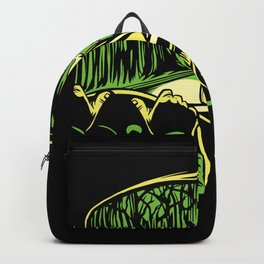 Creepy Woman car scene route scary green Backpack