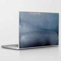 georgiana paraschiv Laptop & iPad Skins featuring In Blue by Georgiana Paraschiv