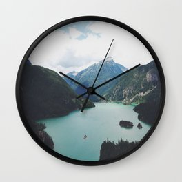 Diablo Lake Wall Clock