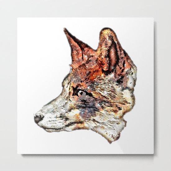 Space Fox no3 Metal Print