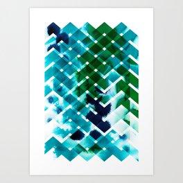 River in deciduous wood Art Print