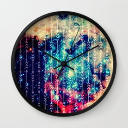 Galaxy Arrows Wall Clock