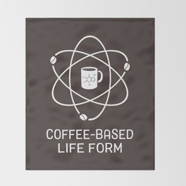 Coffee-based Life Form Throw Blanket