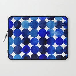 Blue Circles in Watercolor Laptop Sleeve