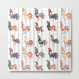 Modern Farmhouse Rooster Metal Print