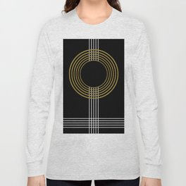 GUITAR IN ABSTRACT (geometric art deco) Long Sleeve T-shirt