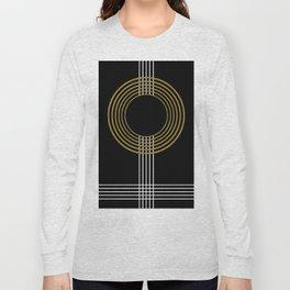 GUITAR IN ABSTRACT (geometric art deco) Long Sleeve T-shirt