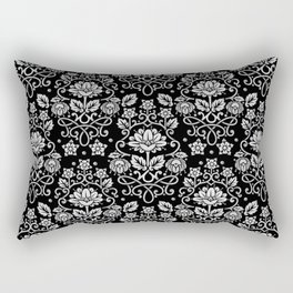 Damask Monotone Rectangular Pillow