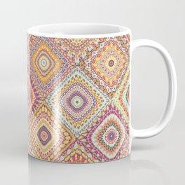 Granny's Millefiori Quilt-Spring Colors Coffee Mug