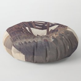 Shipwrecked - The Peter Iredale Floor Pillow