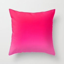 pink ombre Throw Pillow