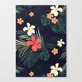 Dark tropical Canvas Print